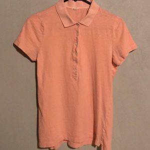 Women's J Crew Polo in Peach, S